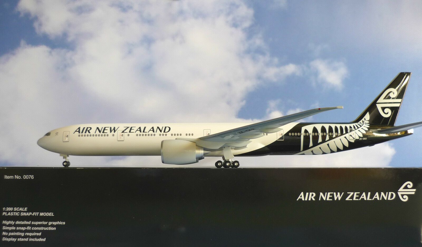 Hogan Wings 1:200 Boeing 777-300Er New Zealand zk-okr  ailes de Herpa katalog | Exquise (in) De Fabrication