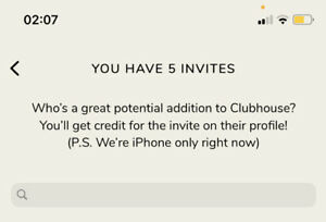 7-ClubHouse-Invites-IOS-only