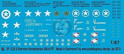 Peddinghaus 1//72 1224 5 Sherman Battle Tank USA and Free France