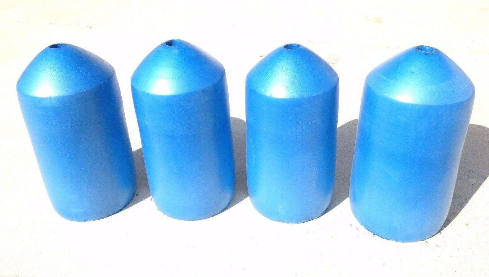 Paquete  de cuatro Azul Grado Comercial Cangrejo pot & trampa Boyas 7 pulgadas x 14  Bala Flotadores  nuevo sádico
