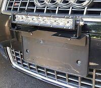 Aluminum Universal License Plate Mount Bracket For Off Road Lights