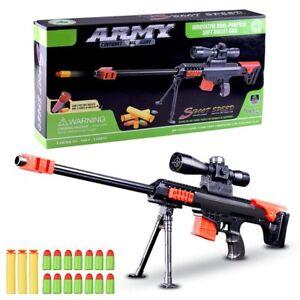 new 2018 nerf gun 15 pcs soft bullet military sniper kids gift