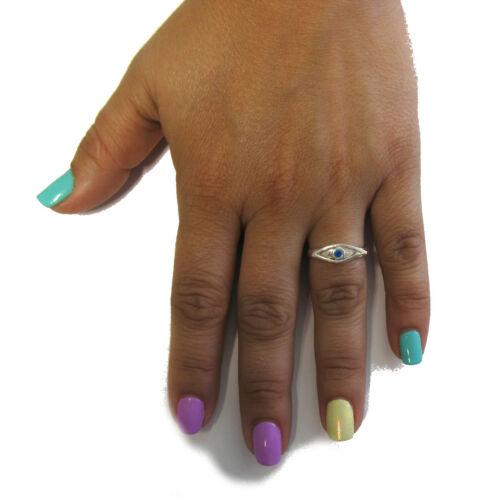 Sterling silver ring solid 925 Blue Eye R001665 Empress