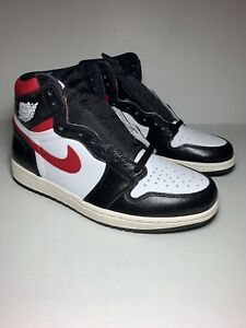 Details about 2019 Nike Air Jordan 1 Retro High OG Black White Sail Gym Red 555088 061 Size 10