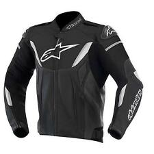 GIACCA MOTO ALPINESTARS GP R LEATHER JACKET RACING PELLE NERO BIANCO 2015 TG 56