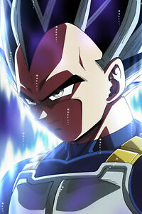 Details About Dragon Ball Super Poster Vegeta Ultra Instinct No Logo 12inx18in Free Shipping