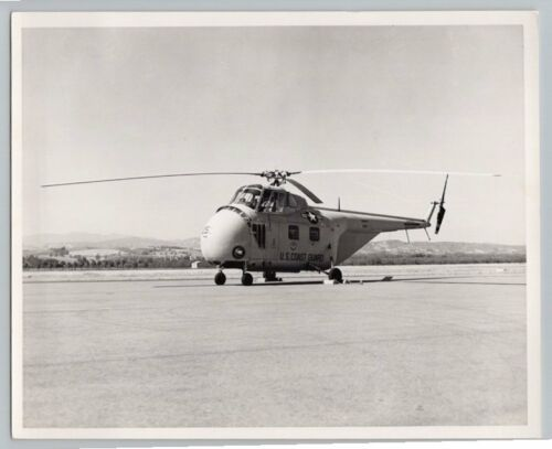 1950's SIKORSKY H19 HELICOPTER Vintage OFFICIAL US COAST GUARD OXNARD Photo