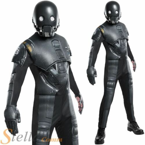 Mens Deluxe K-2SO Costume Star Wars Rogue One Droid Fancy Dress Adult Outfit