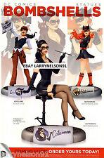 BOMBSHELLS POSTER DC COMICS LOIS LANE BATWOMAN CATWOMAN SELINA KYLE KATHY KANE