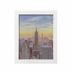 Frame Amo White Wood Picture Frames or Poster Frames, 1 inch Wide, Smooth Finish