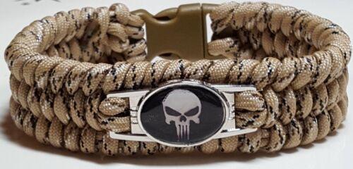 Punisher Skull Handmade Custom Sized Trilobite Survival Paracord Bracelet