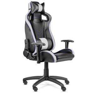Silla-oficina-Gaming-PRO-despacho-escritorio-reclinable-giratoria-Blanca-McHaus