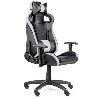 Silla oficina Gaming PRO despacho escritorio reclinable giratoria Blanca -McHaus
