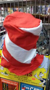 da55c34d Felt Red & White Peppermint Swirl Stovepipe Hat 12