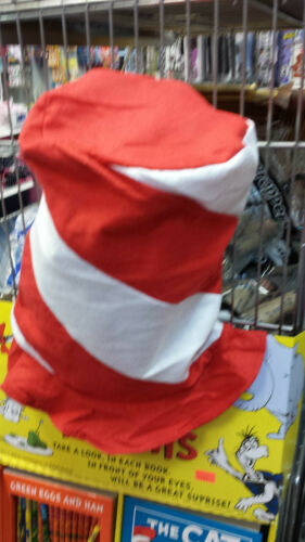 """Felt Red /& White Peppermint Swirl Stovepipe Hat 12/"""" tall Dress Up Fun  Hat Day"""