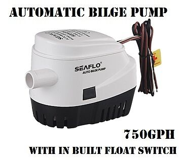Automatic Submersible Marine Boat Bilge Water Pump 12V 750GPH with Float Switch