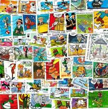 France Stripes Comics 25 Stamps Different Obliterated