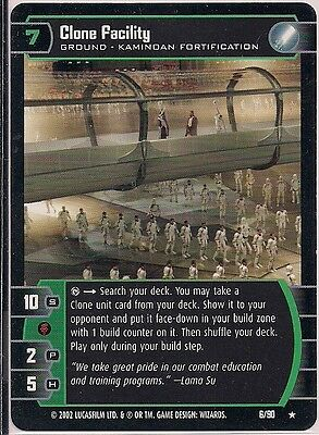 Clone Facility 6//90 NM//Mint Sith Rising Star Wars TCG SR