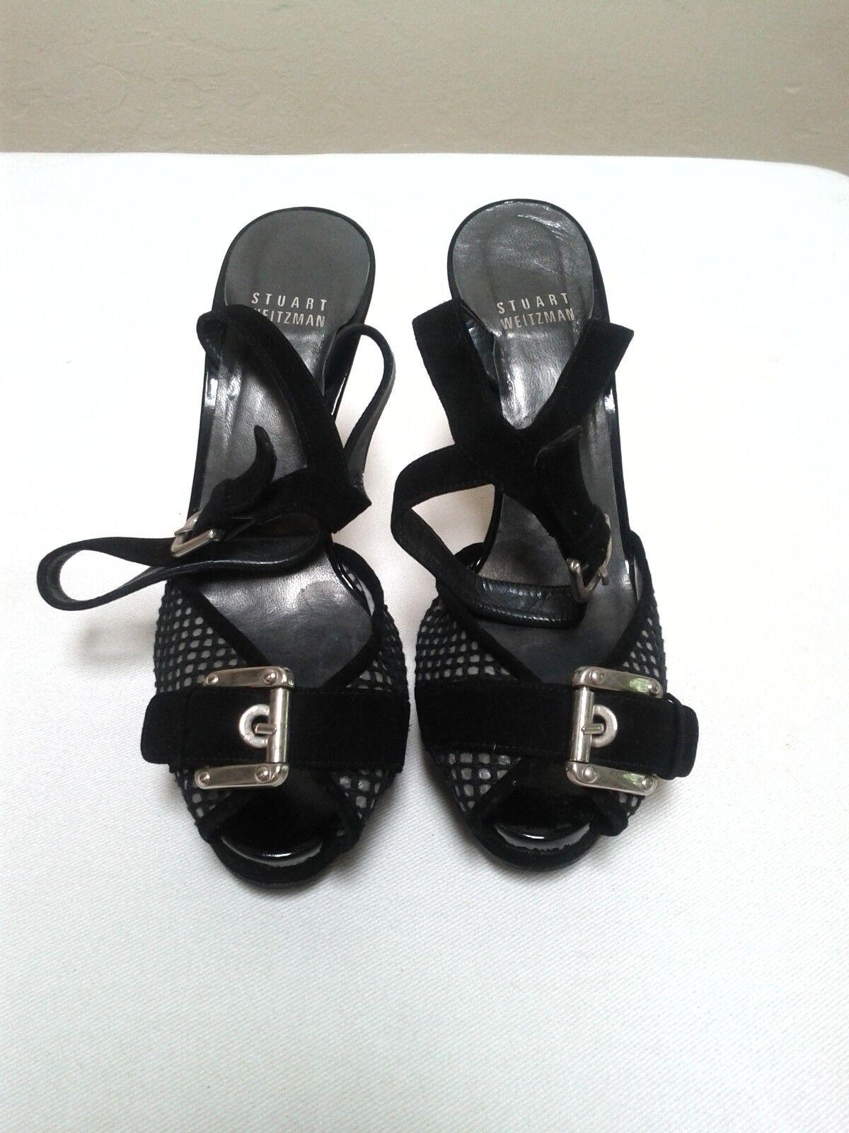 STUART WEITZMAN Stout Peep Toe Ankle Strap Platform Heels  Schuhes, 395   Heels 6 a27052