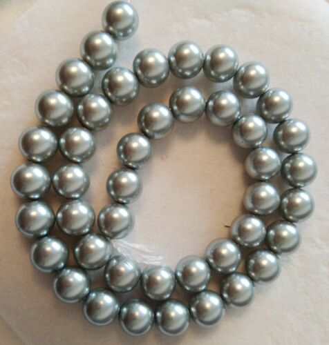 new Wholesale 8mm 10mm South Sea Shell Pearl Loose Beads AAA 15 inch