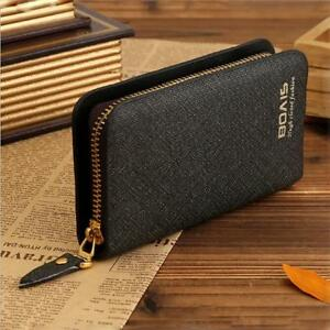 Men Women Leather Keychain Holder Car Key Case Zipper Wallet Handbag ... b62ca4943b