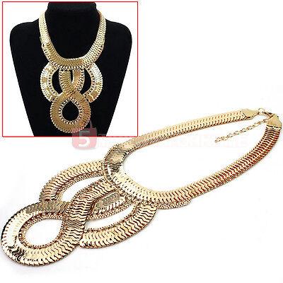 Hot Sale Fashion Bib Chunky Statement Crystal Rhinestone Choker Necklace New