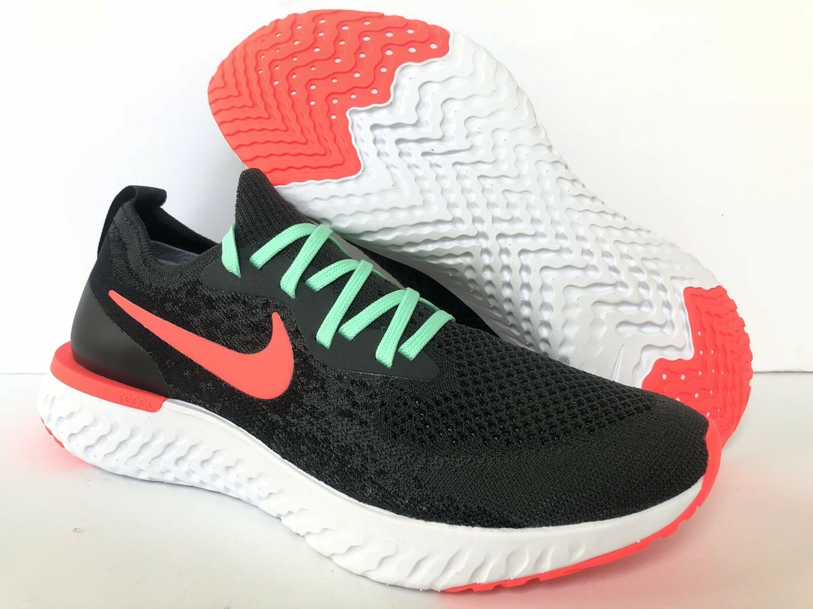 huge selection of 2a9ee 55128 NIKE iD EPIC REACT FLYKNIT BLACK SEA FOAM RED  AJ7283-994