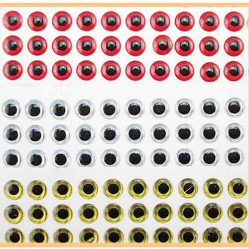 100pcs//lot 8mm Iron DIY 3D Animal Bionic Eye For Lures Flies Jigs Crafts  New.