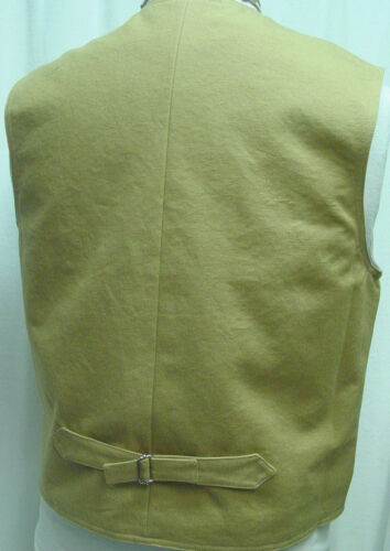 Frontier Old West Victorian Westworld style vest Double Breasted Khaki Wheat