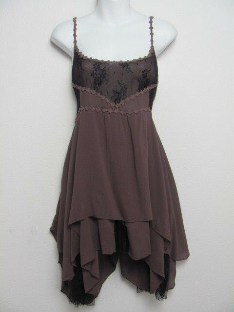 Free People Intimately Womens Dress Pieced Voile Trapeze Lace Mini Slip Size M