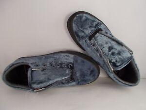 VANS-Old-Skool-Velvet-Gray-Black-Skateboarding-Shoes-Men-039-s-Size-9-New-In-Box