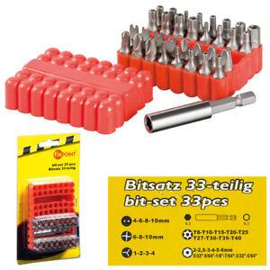 BITSATZ-SPEZIALBITS-Triwing-Vielzahn-Sechskant-Innenloch-Magnethalter-33-teilig