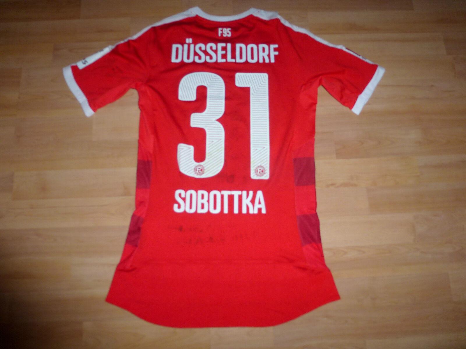 MATCHWORN Fortuna Düsseldorf Trikot  31 Sobottka  gg. St. Pauli ACTV ungewaschen