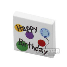 LEGO Custom Printed LEGO Tile - 2x2 Happy Birthday Card