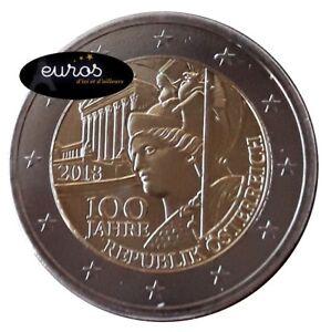 2-euros-commemorative-AUTRICHE-2018-Anniversaire-de-la-Democratie-Autrichienne