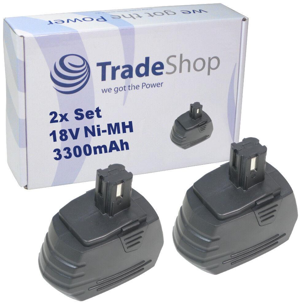 2x Trade-Shop AKKU 18V 3300mAh 59,4Wh für Hilti SF4000-A SF4000A SFL18 SFL-18