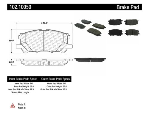 C-TEK Metallic Brake Pads fits 2006-2007 Toyota Highlander  C-TEK BY CENTRIC