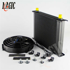 HOSE END+UNIVERSAL 30 ROW AN8-8AN  ENGINE TRANSMISSION OIL COOLER AN8 FITTING
