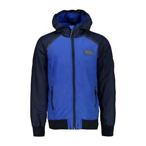 """Cmp Fonction Veste Boy Jacket Fix Hood Bleu Imperméable Unicolore Ripstop Robuste-d Unifarben Ripstop"""" afficher Le Titre D'origine"""