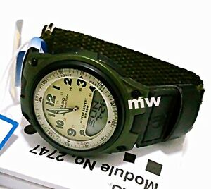 Casio-Sport-Green-Dial-World-Time-Ana-Digi-Cloth-Band-Quartz-Men-Watch-AW-80V-3B