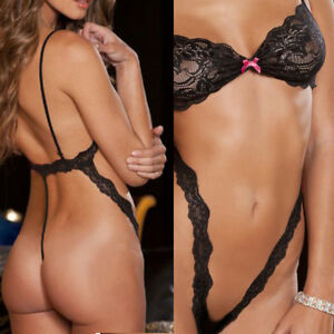 209774283 Details about Women Sexy Lingerie Lace Underwear G-String Bra Set Nightwear  Sleepwear Gifts