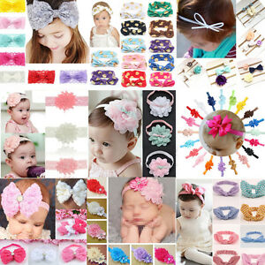 Kids-Toddlers-Lace-Flower-Headband-Infant-Hair-Bow-Band-Accessories-Baby-Girls