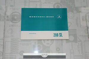 MERCEDES-W113-280SL-Owner-039-s-Manual-280SL-Betreibsanleitung-Pagoda-Pagode-German
