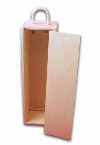 per una bottiglia weinbox Cassa di vino scatola regalo con cordino grip legno unbeh.