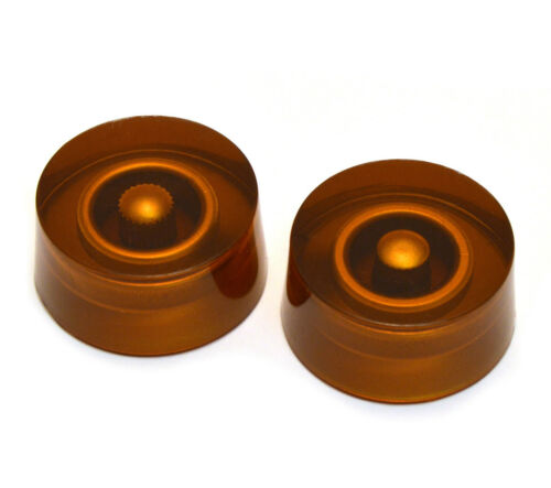 2 Amber Plain Speed Knobs for Gibson® /& Guitar//Bass w//CTS Pots PK-3230-022