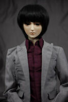 Doll Wig Short Straight Natural Black Bjd Ball Jointed Doll Size 6-7 8-9