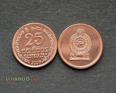 Asien Sri Lanka 25 Cents Km141 Unc Coin Asia Currency Münzen International