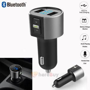 Bluetooth-Car-kit-FM-Transmitter-Wireless-Radio-Adapter-USB-Charger-Mp3-Player