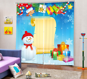 3d navidad 0112 bloqueo foto cortina cortina de impresión sustancia cortinas de ventana