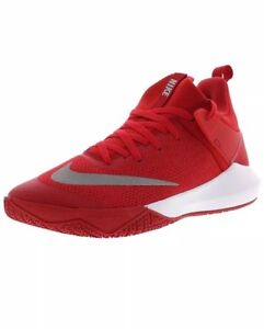 43deeef12480 Men Nike Zoom Shift TB Basketball Shoes University Red White 897811 ...